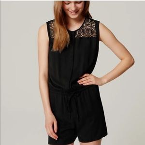 Like New Loft Romper Black Lace Size Xxs